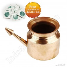 IndoSurgicals Copper Neti Pot for Sinus Irrigation 450 ml