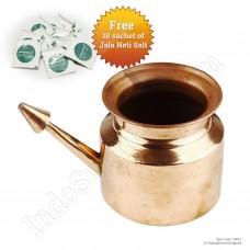IndoSurgicals Copper Neti Pot for Sinus Irrigation 450 ml