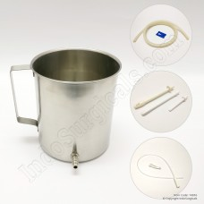 IndoSurgicals Stainless Steel Enema Kit with Silicon Nozzle