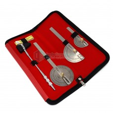 Goniometer Set of 3 with Knee Hammer & Measuring Tape