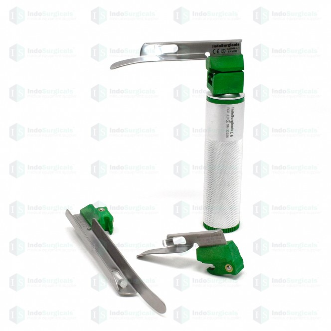 Disposable Fiber Optic LED Laryngoscope Set Miller