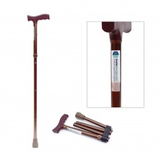 Folding Walking Stick, Adjustable, Aluminium