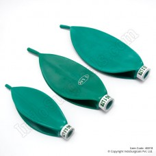 Rebreathing Bags - Green Rubber, 0.5 Litre