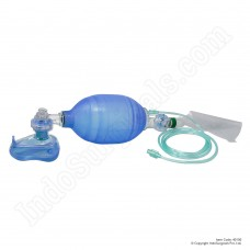Silicone Artificial Resuscitator (Ambu Type Bag) Adult - Blue