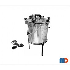 Autoclave, Aluminium, Seamless, Wingnut Type, General Quality, Electric, 25 Ltrs.
