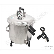 Autoclave Stainless Steel, Seamless, Mirror Finish, Electric, 30 Ltrs.