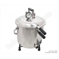 Autoclave Stainless Steel, Seamless, Mirror Finish, Non-Electric, 30 Ltrs.