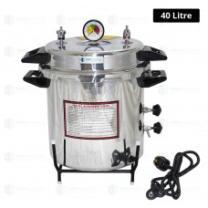 Autoclave Pressure Cooker Type, Mirror Finish, Electric, 40 litre