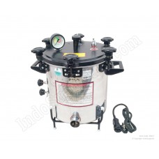 Autoclave, Aluminium, Seamless, Wingnut Type, Deluxe Quality, Electric, 21 Ltrs.