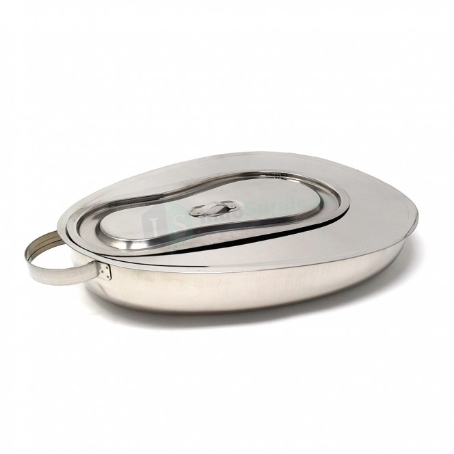 Bed Pan with Lid, Female (Perfection type), Jointed