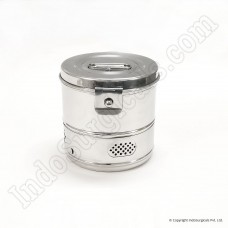 "Dressing Drums - Stainless Steel, Deluxe, 6"" x 6"""
