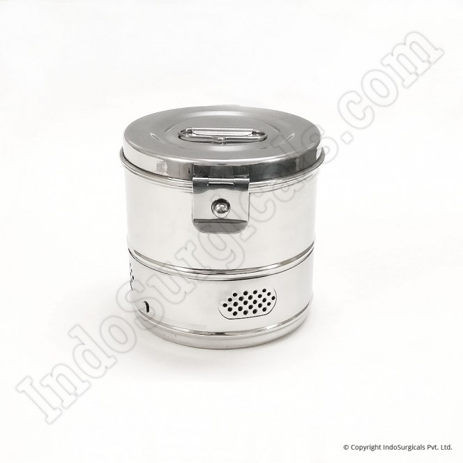 "Dressing Drums - Stainless Steel, Super Deluxe, 6"" x 6"""