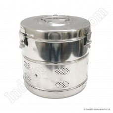 "Dressing Drums - Stainless Steel, Deluxe, 9"" x 9"""
