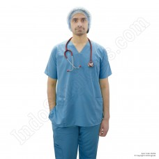 Unisex Scrub Suit Reusable (Blue)
