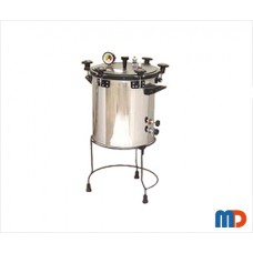 Autoclave, Aluminium, Seamless, Wingnut Type, Deluxe Quality, Non-Electric, 37 Ltrs.