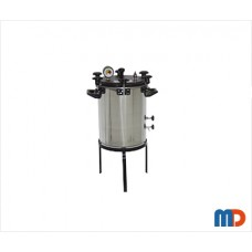 Autoclave, Aluminium, Seamless, Wingnut Type, Deluxe Quality, Non-Electric, 27 Ltrs.