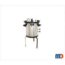 Autoclave, Aluminium, Seamless, Wingnut Type, Deluxe Quality, Non-Electric, 21 Ltrs.