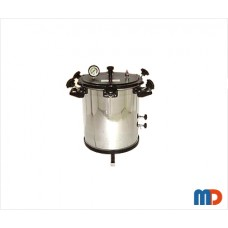 Autoclave, Aluminium, Seamless, Wingnut Type, Deluxe Quality, Electric, 27 Ltrs.