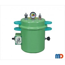 Dental Autoclave, Epoxy Finish, Pressure cooker type, Electric, 10 Liters (Green)