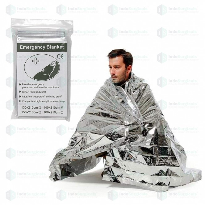 Emergency Foil Blankets 140 x 210cm (Pack of 5 Pcs.)