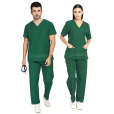 Scrub Suit for Doctors (Bottle Green)