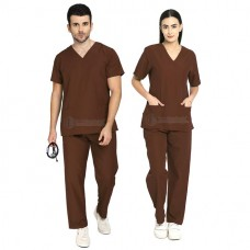 Scrub Suit for Doctors (Brown)