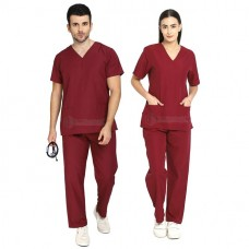 Scrub Suit for Doctors (Maroon)