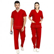 Scrub Suit for Doctors (Red)