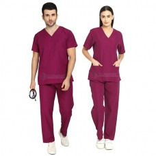 Scrub Suit for Doctors (Wine)